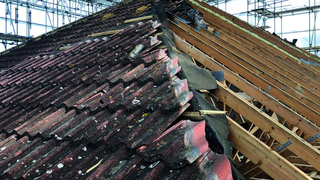 Pitched roof removal