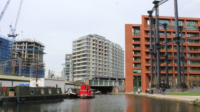 View of The Onyx apartments from the river.
